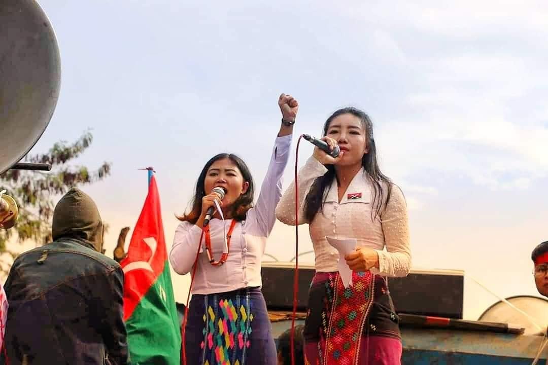 Sut Seng Htoi (right), a Kachin youth activist. (Kachin Youth Movement)