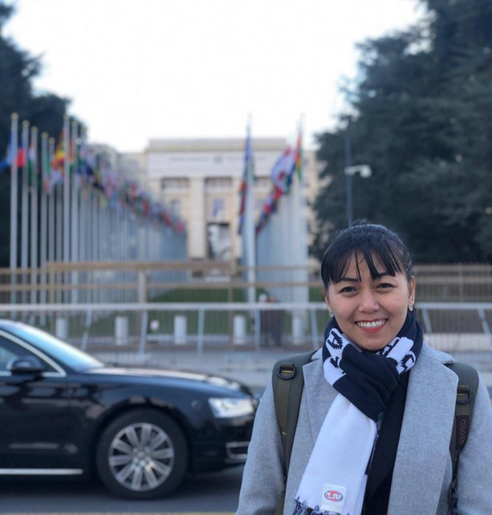 Advocacy coordinator for Action Committee for Democracy Development Thinzar Shun Lei Yi. (Julia Marip)